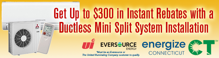 Ductless AC Mini Split EnergzeCT Rebate offer